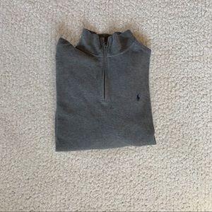 Quarter Zip Grey Ralph Lauren Sweater